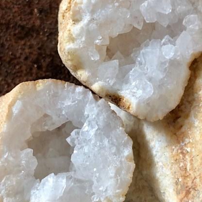 geode bergkristal mini nr1 kristallen mineralen