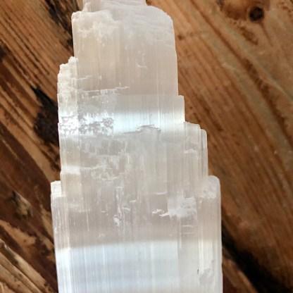 seleniet satijnspaat ijsberg toren mineralen