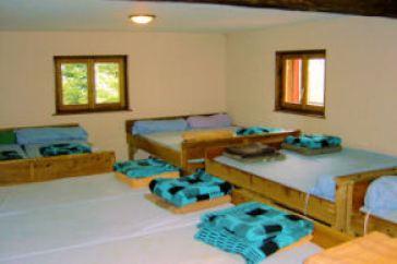Le dortoir Ouest du refuge Edelweiss