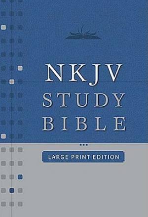 NKJV Study Bible Black Bonded Leather Large Print