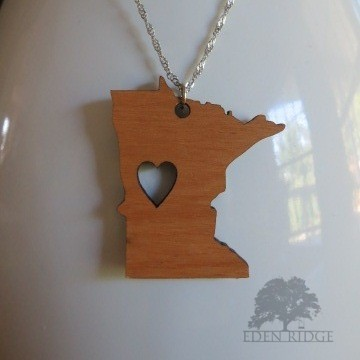 Minnesota Keepsake Necklace