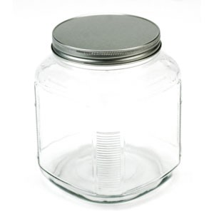 Wide Mouth Jar with Metal Lid (1/2 Gal.)