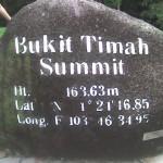 Ang bato sa Bukit Timah Summit