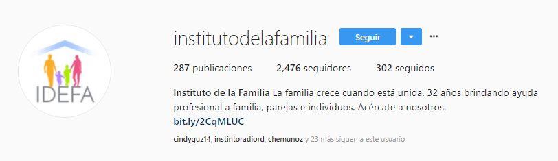 instituto de la familia instagram