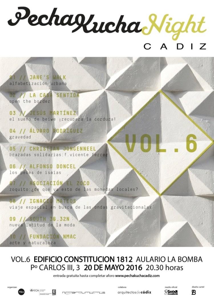 Cartel pechakucha night cadiz VOL6 web