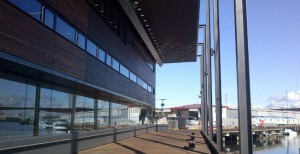 image of the Library at the Dock which utilises U-MAX 100 Centre Glaze