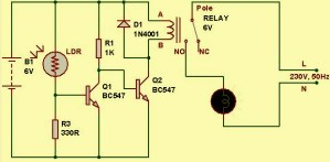 Light Sensor Circuit Diagram with Working Operation