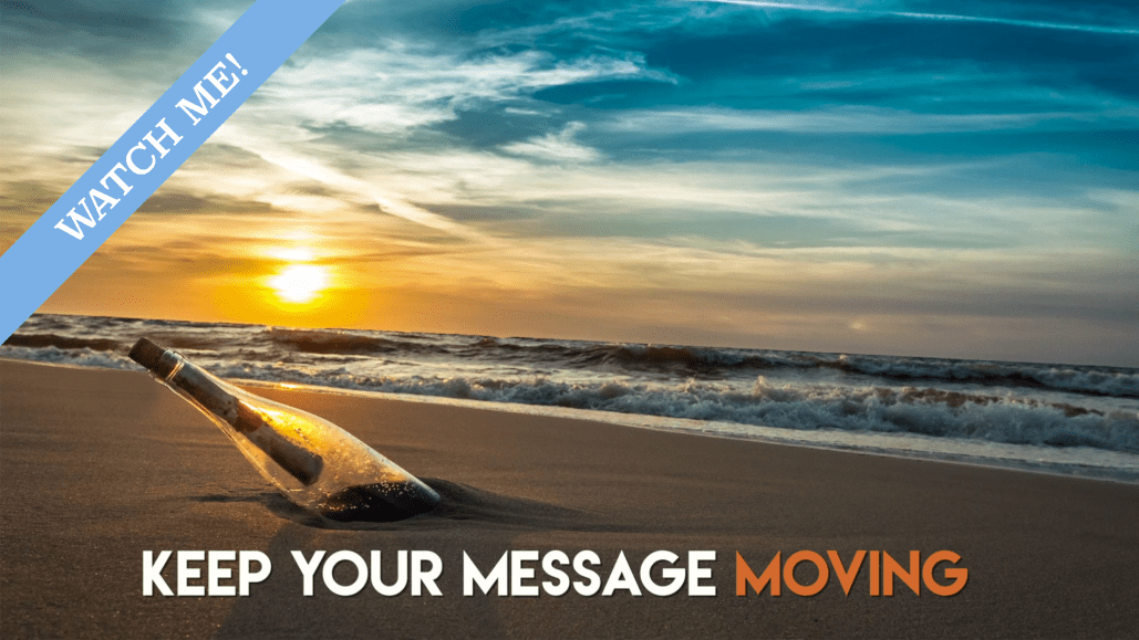 Message in a bottle about video production