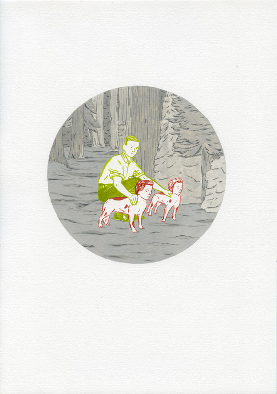 The Silent Earth, 2012, series of drawings, diverse sizes, gouache on paper