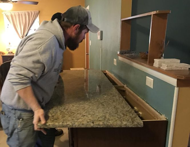 Granite Countertop Install Edge