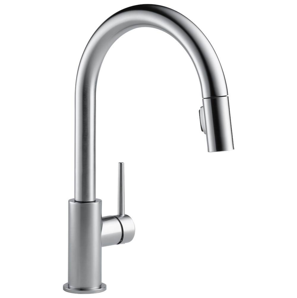 trinsic single handle pull down kitchen faucet