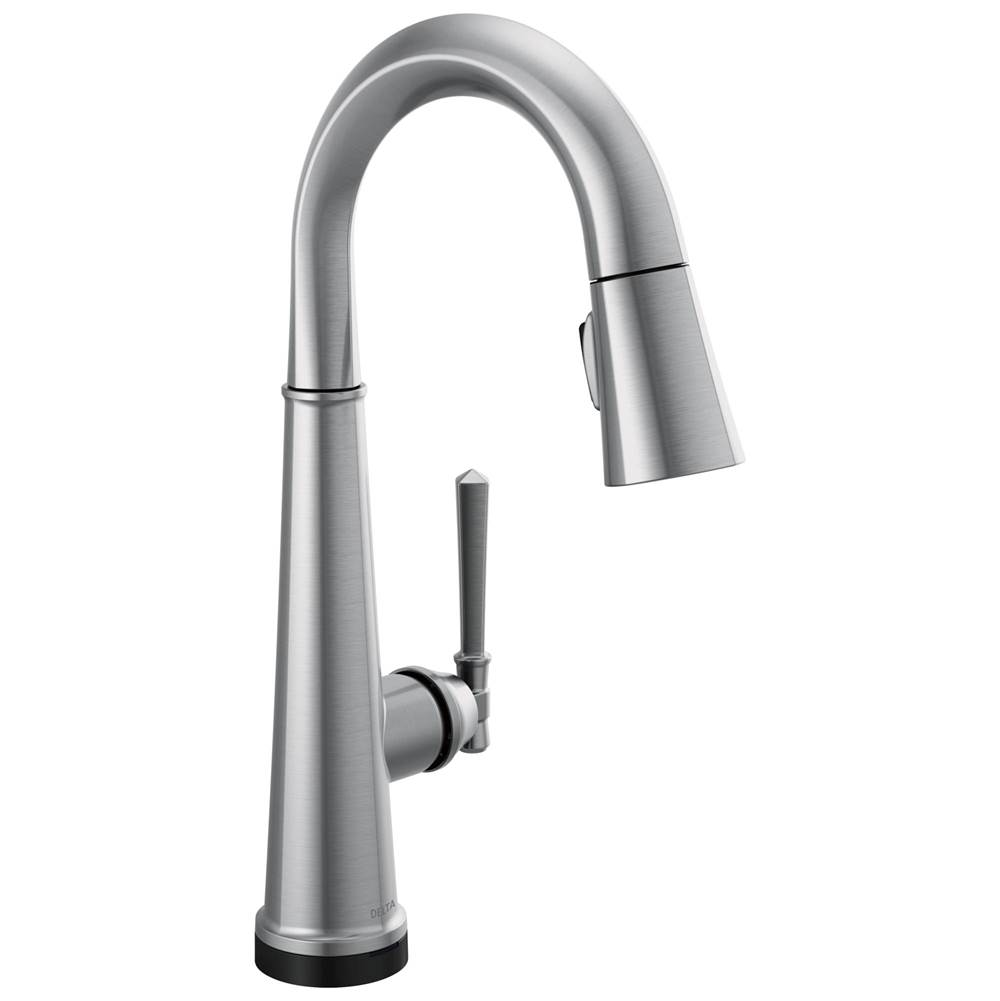 emmeline single handle pull down bar prep faucet with touch2o tech