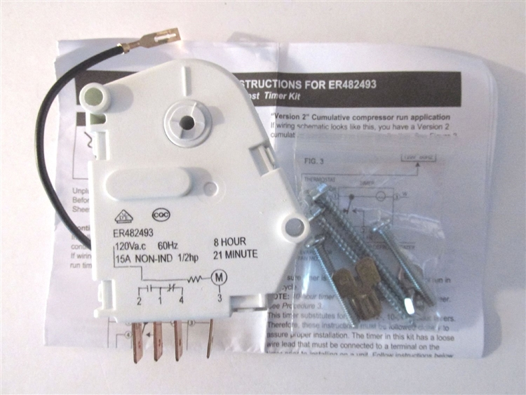 Defrost Timer For Whirlpool Refrigerator