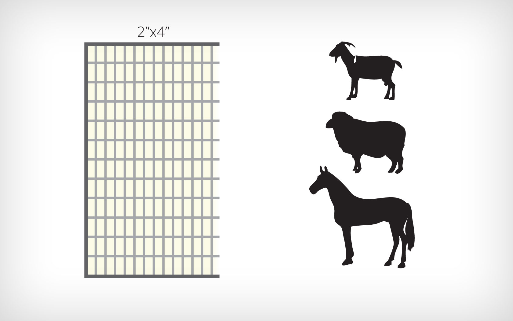 2 X4 Horse Sheep And Goat Panels 16ft X 52