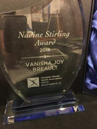 Vanisha Breault CMHA Alberta Nadine Stirling Award 2018 EHN Canada