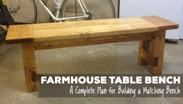 Free Plans For Making A Rustic Farmhouse Table Bench A