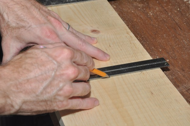 Marking the headboard & footboard panels to cut