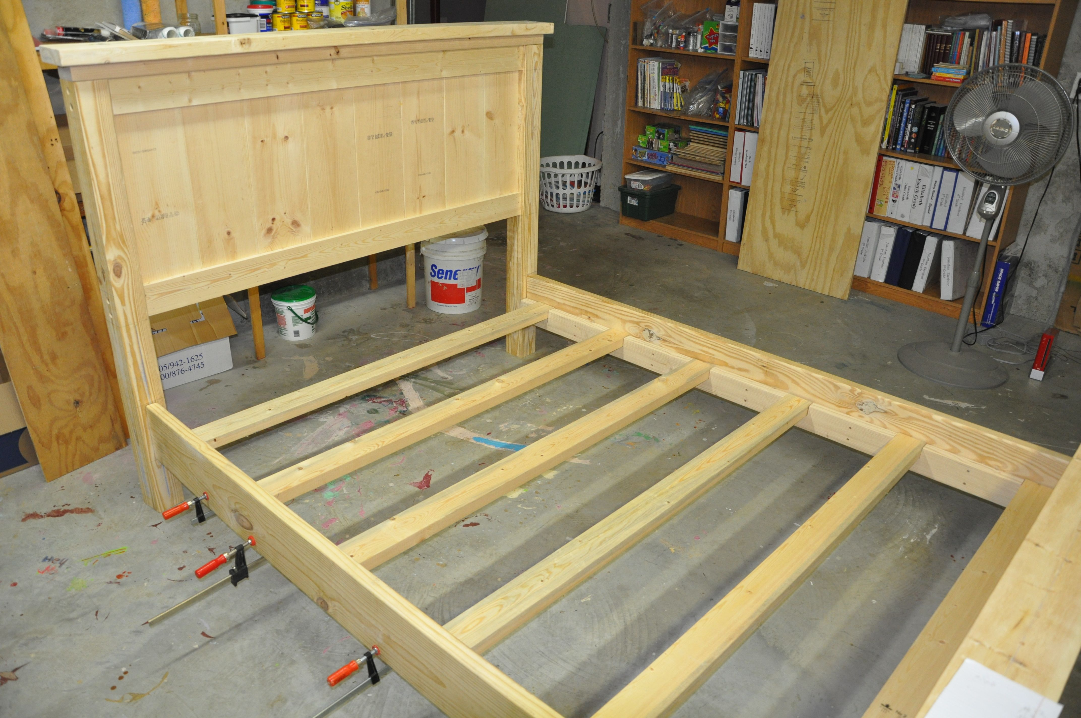 Beautiful At this point the construction of the bed frame is plete Next steps will be sanding and finishing the bed and I ull cover that in another post