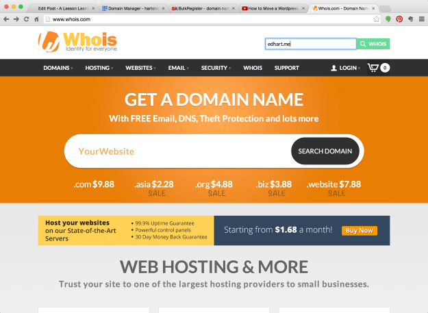 You can verify that your settings have been updated by going to www.whois.com.