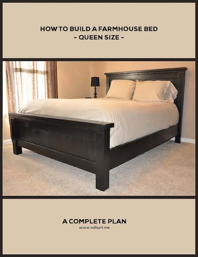 Rustic Bed Woodworking Plan Queen Size   A Lesson Learned