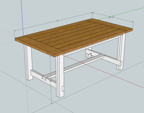 Free Plans For A Diy Farmhouse Table A Lesson Learned