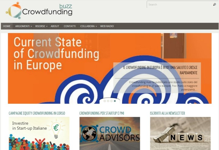 Page - sito Crowdfunding Buzz