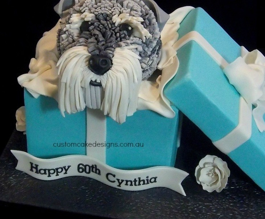 Schnauzer Dog Birthday Cake Edible Artists Network