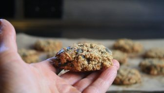 PB Nana Oat cookies edible backyard NZ