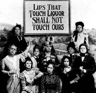 American women promoting prohibition of alcohol in the USA