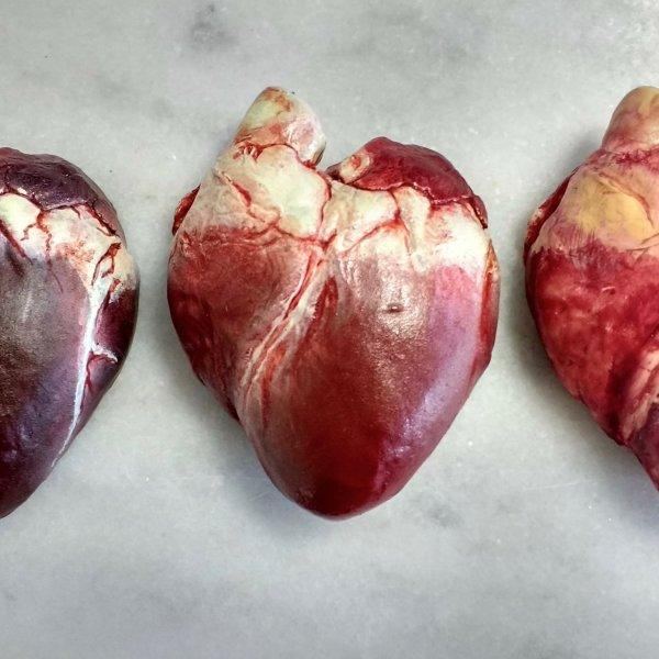 Chocolate Human Hearts in Dark, Milk & White