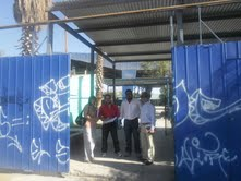 CORES inspeccionan proyecto rurales en el Liceo de Pozo Almonte