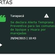 Alerta preventiva por marejadas en Iquique, hasta el 3 de mayo