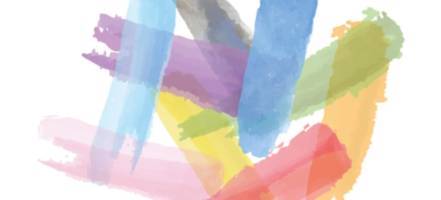 Imagen promocional de la campaña #LeeOrgullo. Se ven todos los colores de la bandera LGTBI+.