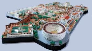 Roma imperiale ricostruita con il Lego