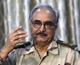 Libia Il gen. Khalifa Belqasim Haftar comandante dell'Esercito Nazionale Libico (Lna)