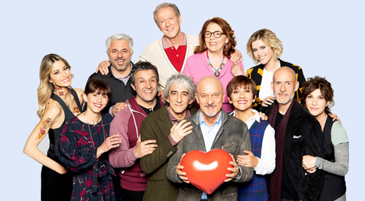 SE MI VUOI BENE Regia di Fausto Brizzi, Italia 2019. Nel cast Claudio Bisio, Sergio Rubini, Flavio Insinna, Lucia Ocone