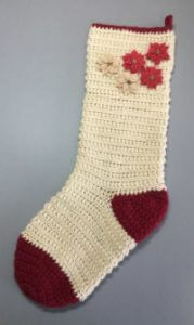 Christmas stocking with purchased embellishments