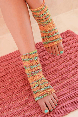 Bath Knits Pedicure Socks and Bathmat