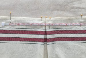 Measure for side pleats