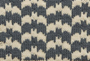 Alterknit Stitch Dictionary Escher Bats knit