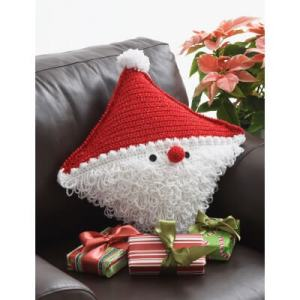 Bernat Santa Pillow Free Crochet Pattern