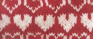 Valentine's Knit Hat Hearts All Around