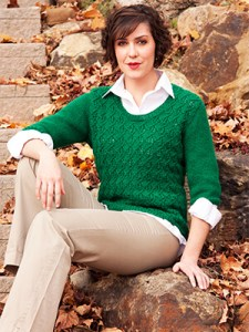 Lace Lattice Sweater Knitting Pattern