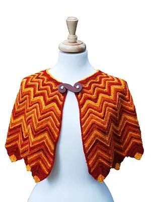Flame Tipped Shawl Knitting Pattern