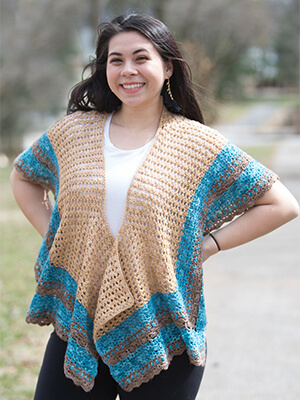 Melbourne Shawl Crochet Pattern