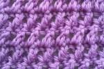 Crossed Double Crochet Swatch