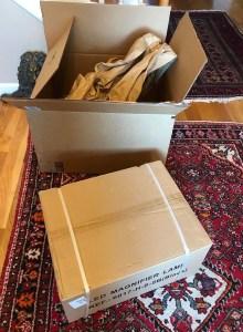 Brightech Lamp in box