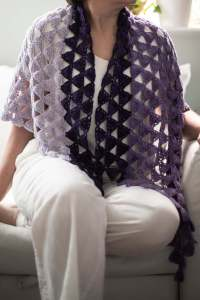 Eulerian Triangles Shawl Crochet Pattern by Edie Eckman view 3