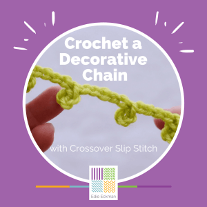 Crochet a Decorative Chain with Crossover Slip Stitch graphic