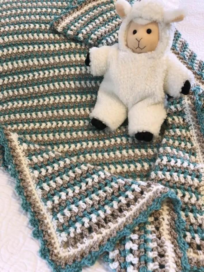 Oliver Baby Blanket Free Crochet Pattern